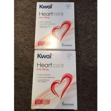 2x KWAI  HEARTCARE GARLIC 300MG TABLETS  100s  1 A DAY