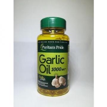 Puritan's Pride Garlic Oil 1000 mg 250 softgels