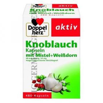 DOPPEL HERZ - GARLIC CAPSULES - Knoblauch Kapseln - 480 pcs - German Product