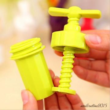 Plastic Garlic Press Crusher Masher Home Kitchen Slicer Squeezer Cleaning Tool