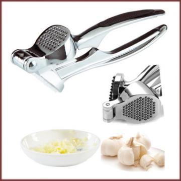 Garlic Press Heavy Duty Metal Crusher Squeezer Presser Rubber Grip Kitchen Tool