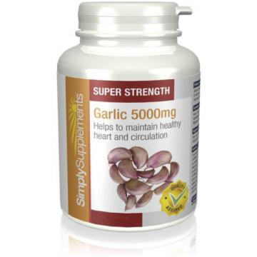 SimplySupplements Garlic 5000mg 120 Capsules (E534)