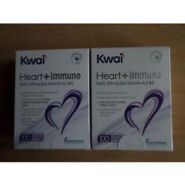 2  X KWAI  HEART+IMMUNE GARLIC 300 MG PLUS TABLETS  100s  1 A DAY 100 X 2
