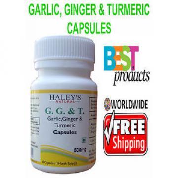 Veggie Capsules Garlic,Ginger & Turmeric 500 mg Herbal Capsules