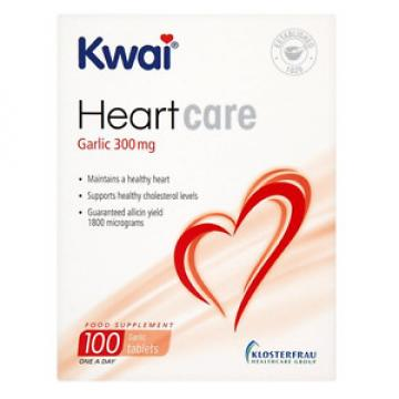 New | Kwai Heartcare One A Day Garlic 300mg Tablets | 100 Tablets