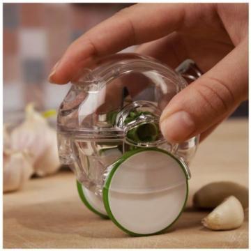 Mini Garlic Chopper Crusher Grater Peeler Stir Twist Plastic Press Ginger Cutter