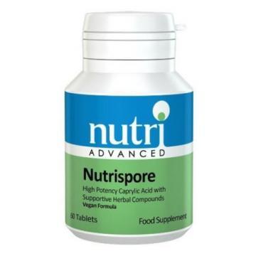 Nutri Advanced Nutrispore 60 Tablets with  Garlic, Thyme, Undecylenic Acid New