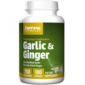 Garlic + Ginger 100 Caps 700 MG by Jarrow Formulas