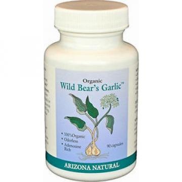 Arizona Natural Organic Wild Bear's Garlic For Blood Cleansing - 90 Capsules