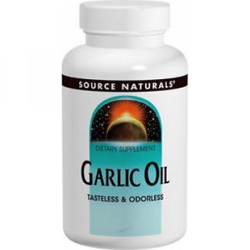 Source Naturals Garlic Oil - 250 Softgels