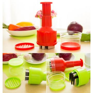 Kitchen Garlic Onion Food Chopper Cutter Slicers Mixed Vegetable Fruit Mud Tool