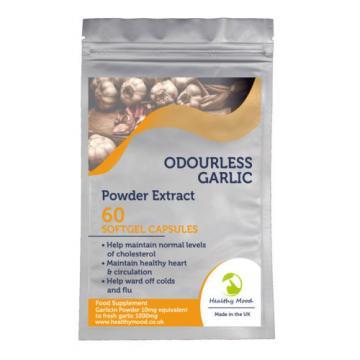 Odourless Garlic 1000mg Powder Extract 30/60/90/120/180 Softgel Capsules