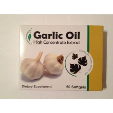Garlic Oil High Concentrated Extract Supplement Heart Pills 50 softgels