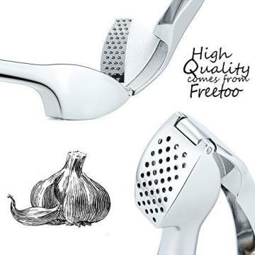 FREETOO Garlic Press Garlic Crusher Ginger Mincer Squeezer Chopper Stainless