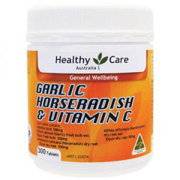 Healthy Care Horseradish & Garlic & Vitamin C 300