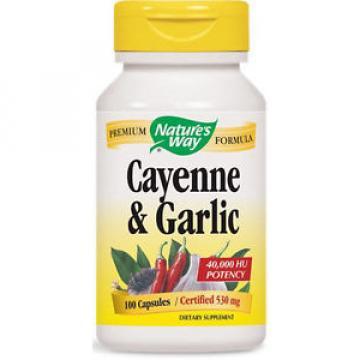 Cayenne & Garlic - 100 Capsules - Nature's Way