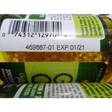 Garlic Oil 1000 mg Cholesterol Health 100 X 2=200 Softgels Pills Very Fresh 2021