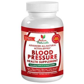 Activa Naturals Blood Pressure Health Supplement with Garlic,Hawthorn,Hibiscus