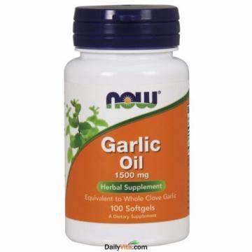 2 x NOW FOODS Garlic Oil Triple 3 x Strength 1500 mg 100 SGels FRESH MADE IN USA