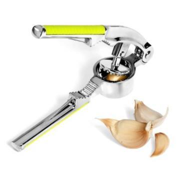 Garlic Press Hand Presser Crusher Ginger Squeezer Slicer Masher Kitchen Tool