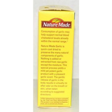 Nature Made Garlic 1250mg Odor Control Gluten Free  Expires January 2020