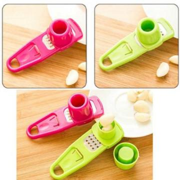 Plastic Small Tool Garlic Press Chopper Cutter Garlic Grinding Kitchen Tool