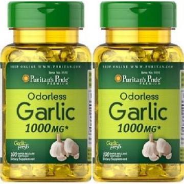 2   Knoblauch 1000 mgr. 100 kaps. natürliches Antibiotikum, Garlic