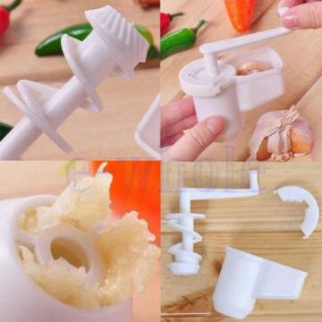 Multifunctional Garlic Ginger Crusher Grinder Press Rotate Kitchen Gadget TW