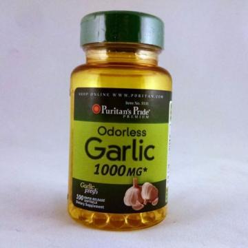 Puritan's Pride Odorless Garlic 1000 mg 100 softgels dietary supplement herb