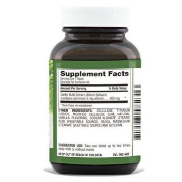 Natural Nutra High Allicin Garlic Supplement, Odorless, Enteric Coated, 500 mg