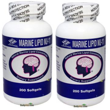 2x Marine Lipid Concentrate Omega-3,6,9 Fish Oil+Flaxseed+Garlic+Ginkgo 200 Caps