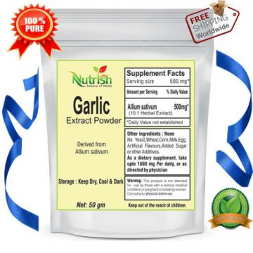 Garlic (Allium Sativum)10:1 Extract  Powder 100 gm Organic Lahsun Extract