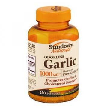 Sundown Naturals Odorless Garlic 1000 mg Softgels 250 ea (Pack of 4)