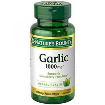 Nature's Bounty Garlic 1000 Mg, 100 Odorless Softgels