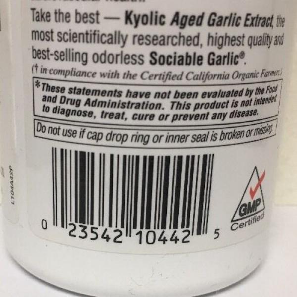 (New) Kyolic Aged Garlic Extract Cholesterol Formula 104 - 200 Capsules #3 image